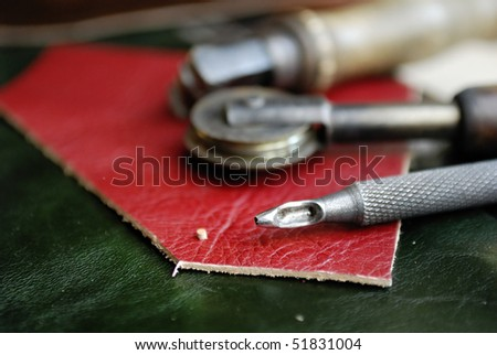 Some tools for work with leather Stock photo © olira