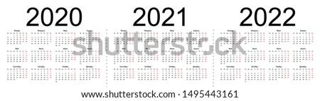 год простой календаря русский язык изолированный Сток-фото © evgeny89