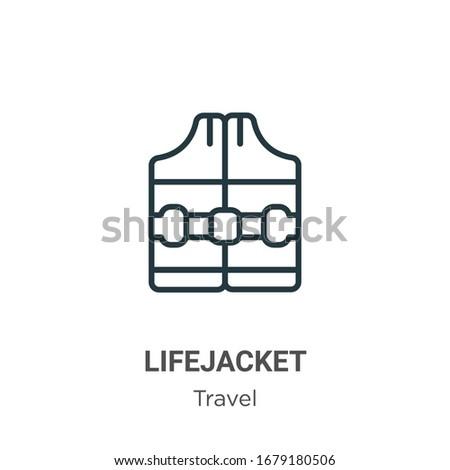 Vector lifejacket icon on white background Stock photo © nickylarson974