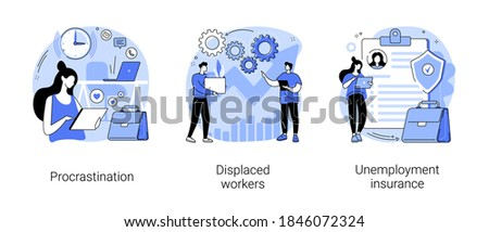 Displaced workers abstract concept vector illustration. Stock photo © RAStudio