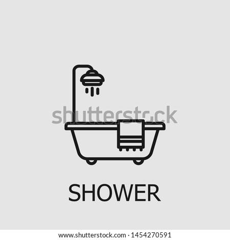 Prysznic ikona wektora ilustracja Zdjęcia stock © pikepicture