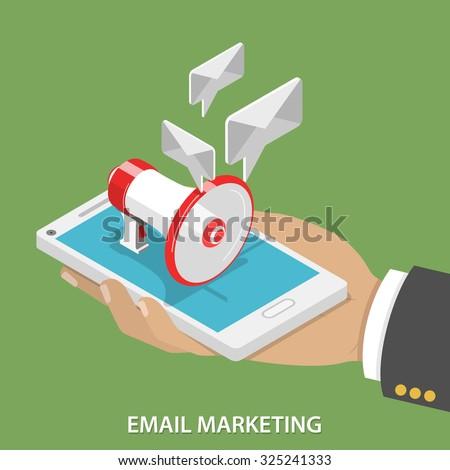 Haut-parleur main isométrique icône vecteur signe de la main Photo stock © pikepicture