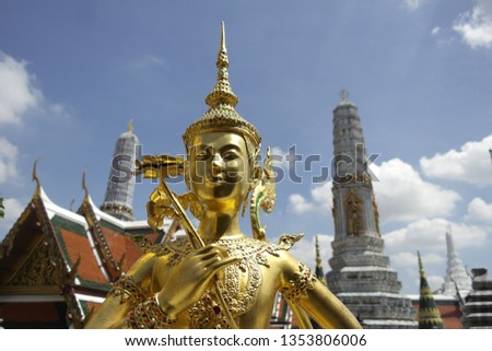 Mitologia descobrir assistindo templo arte edifícios Foto stock © meinzahn