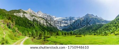 view to mountains of the pyrenees stock photo © meinzahn