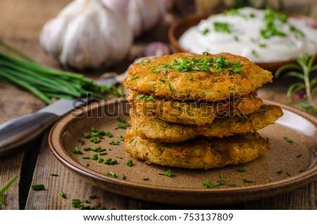 Delicious potato pancakes Stock photo © vankad