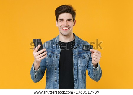 Menino móvel sorrir cara feliz telefone Foto stock © meinzahn