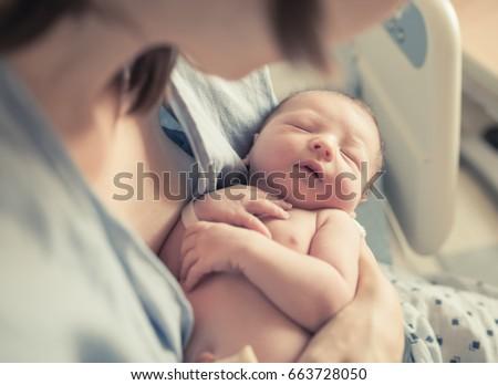 újszülött gratulálok család gyermek anya élet Stock fotó © adrenalina