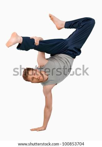 ブレーク ダンサー 1 逆立ち 白 男 ストックフォト © master1305