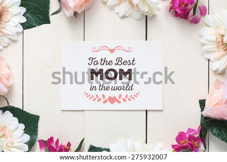 Bouquet of tulips and post card on white Stock photo © tetkoren