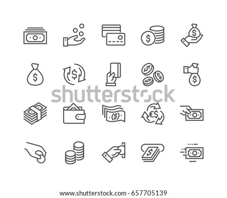 Set of vector icons with money Stock photo © LoopAll