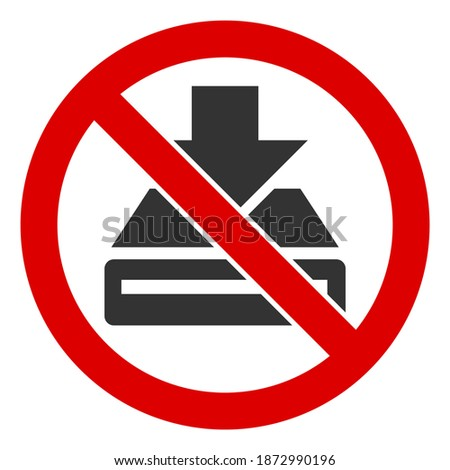 Red prohibited or banned download symbol. Flat design style. Vector Stock photo © MarySan