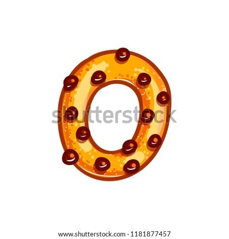 Numero cookies carattere biscotto alfabeto Foto d'archivio © popaukropa