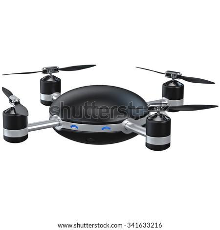 octocopter with camera on white background. Isolated 3d illustra Stock photo © ISerg