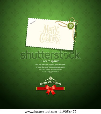 Holiday background with green bow Stock photo © fresh_5265954