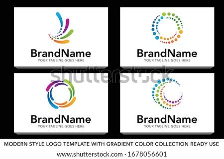 Collection of Creative Chemical Colorful  Logos design for brand Stock photo © DavidArts