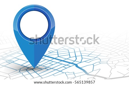 Pointer location for the map Stock photo © Ecelop