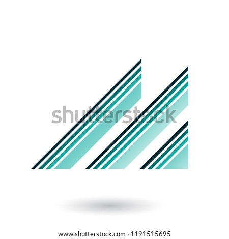 persian green letter m with diagonal retro stripes vector illust stock photo © cidepix