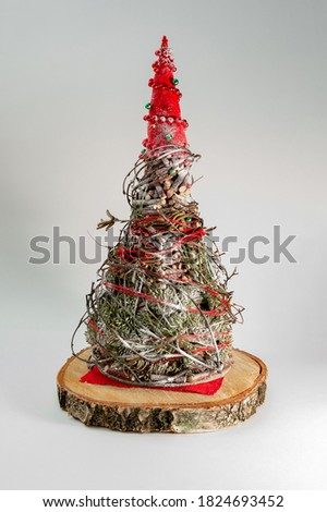 Christmas tree made of a tablecloth isolated on white background. Vector illustration. Stock photo © Lady-Luck