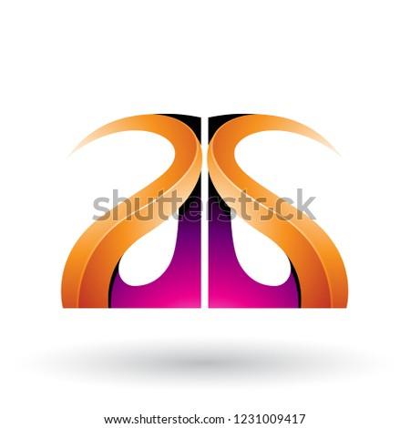 Magenta narancs fényes g betű vektor izolált Stock fotó © cidepix