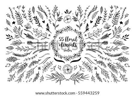 手描き 花輪 フローラル ベクトル ヴィンテージ バナー ストックフォト © bonnie_cocos