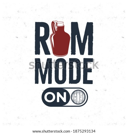 Rum fles illustratie citaat opslaan Stockfoto © JeksonGraphics