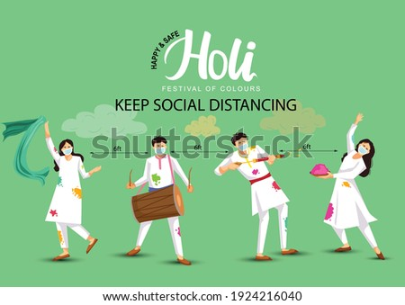Holi festival concept vector illustration Zdjęcia stock © RAStudio