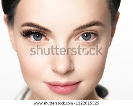 Közelkép makró gyönyörű női szem tökéletes Stock fotó © serdechny