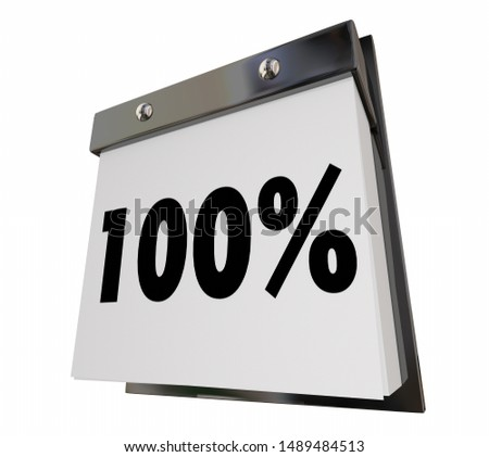 100% Percent Done Complete Finished Calendar Countdown 3d Illustration Stock photo © iqoncept