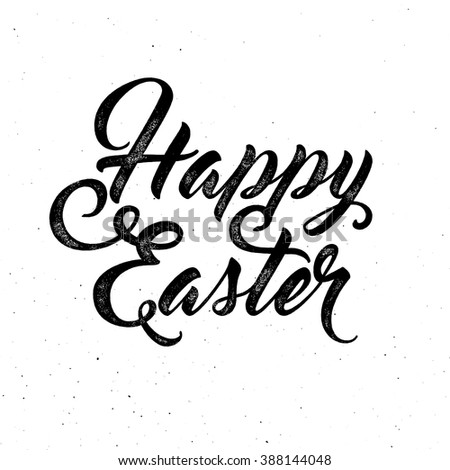 Happy easter. Lettering phrase on grunge background. Design element for poster, card, banner.  Stock photo © masay256
