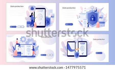 Parmak izi teknoloji afiş stil dizayn cep telefonu Stok fotoğraf © shai_halud