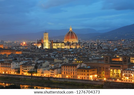 Giotto's Campanile historical Old Town of FlorenceTuscany, Italy. Stock photo © Zhukow