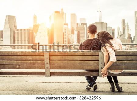 Relação mulher homem abraço andar Foto stock © vkstudio