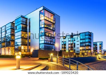 Facade of a modern apartment building Stock photo © manfredxy