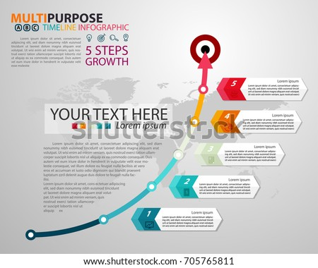 Multipurpose Infographic template with five elements Stock photo © orson