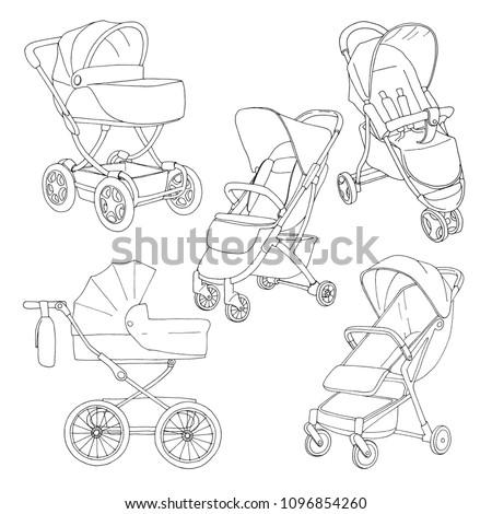 Kroki bebek vektör arka plan sanat siyah Stok fotoğraf © Arkadivna