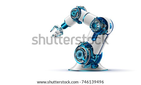 Robotic Mechanism Isolated, Automated Production Stock photo © robuart