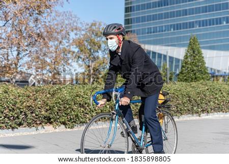 Afbeelding jonge zakenman lopen Stockfoto © deandrobot