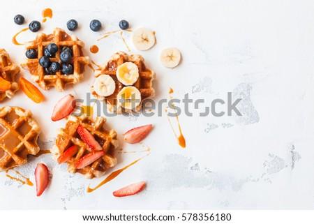 Heerlijk zomer bessen ijs ontbijt koffie Stockfoto © karandaev