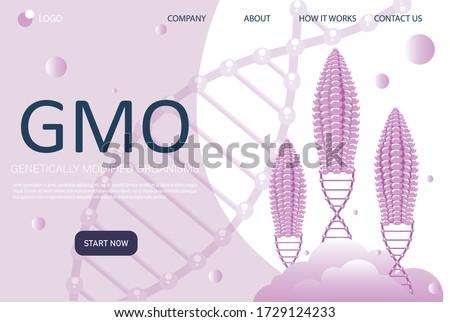 Genetically modified foods concept landing page. Stock photo © RAStudio