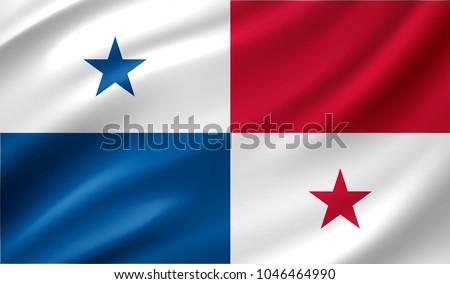 Panama flag, vector illustration on a white background Stock photo © butenkow