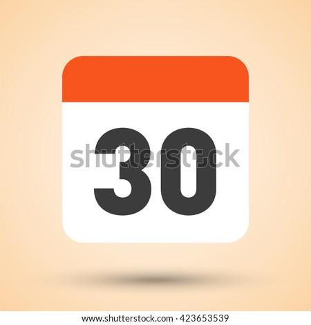 Eenvoudige zwarte kalender icon 30 datum Stockfoto © evgeny89