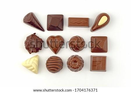 Chocolate escuro isolado branco alimentos doces sobremesa Foto stock © Anneleven