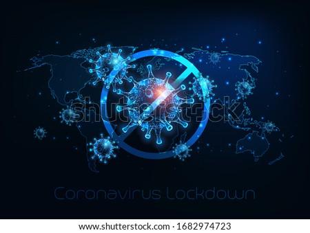 Blijven home stoppen coronavirus ontwerp virus Stockfoto © articular