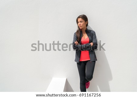 Asian dziewczyna model kobieta ściany Zdjęcia stock © Maridav