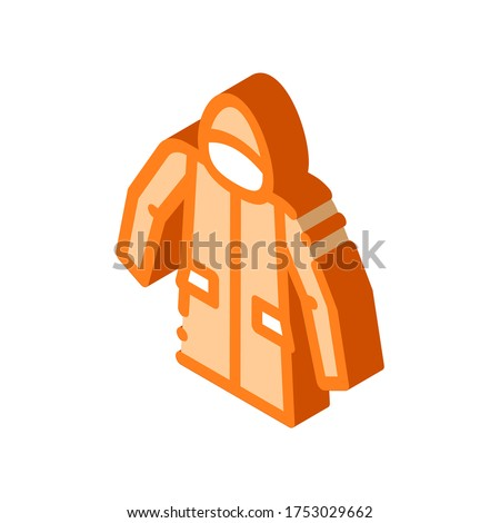 Waterproof Material Jacket Anorak isometric icon vector illustration Stock photo © pikepicture