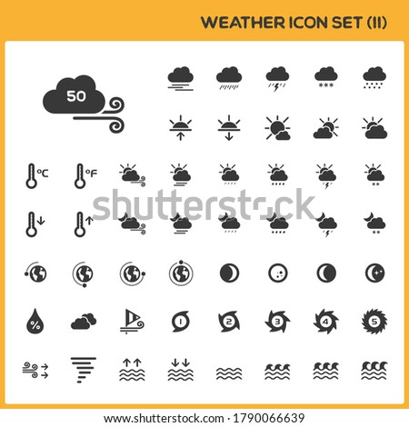 Meteo mappa meteorologia gruppo isolato Foto d'archivio © Imaagio