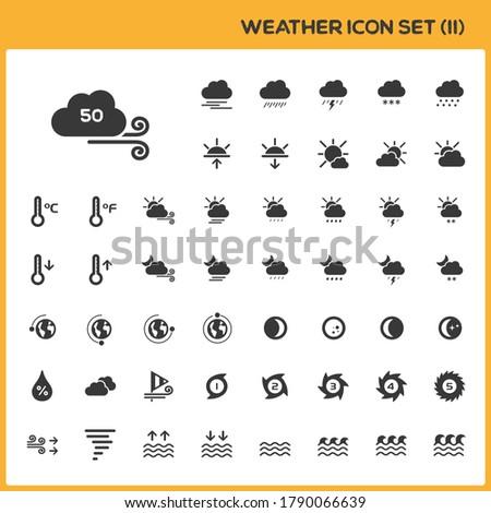 Météorologiques carte météorologie groupe isolé Photo stock © Imaagio