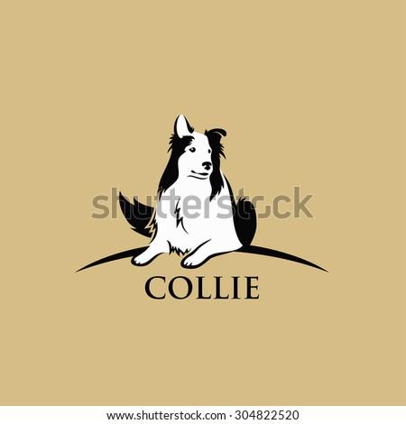 овчарка талисман черно белые икона иллюстрация голову Сток-фото © patrimonio