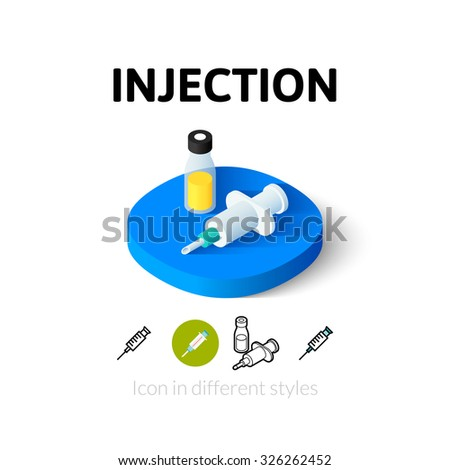Siringa iniezione isometrica icona vettore segno Foto d'archivio © pikepicture