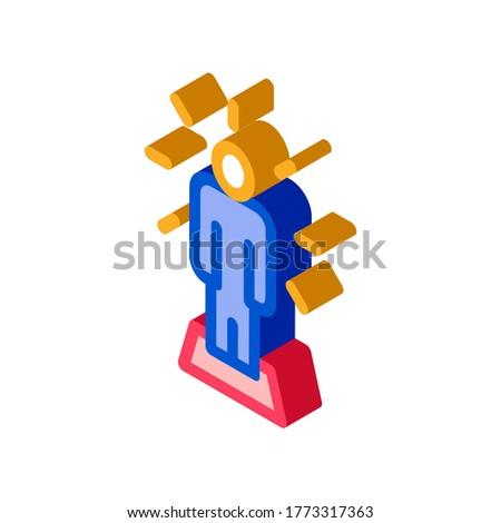Emberi csillog izometrikus ikon vektor felirat Stock fotó © pikepicture